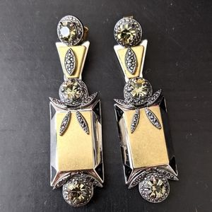 J.Crew Gold & Silver Jeweled Statement Earrings